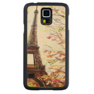 パリ-絵2の通り CarvedメープルGalaxy S5スリムケース