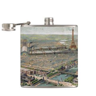 パリ(1900年)のヴィンテージの絵解き地図 フラスク