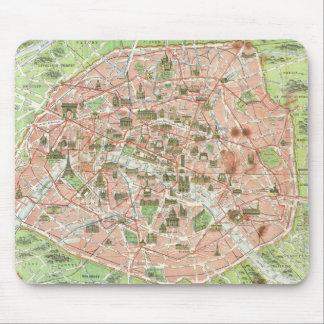 パリ(1920年)のヴィンテージの地図 マウスパッド