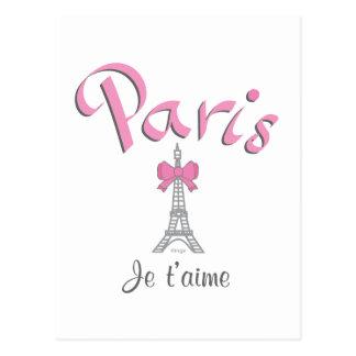 パリ- Jeのt'aime (I愛) ポストカード