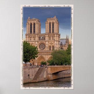 パリ- Notre Dame ポスター