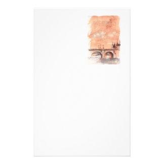 パリBONJOURのスケッチブック、カスタムなノート 便箋
