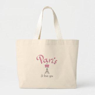 パリI愛のエッフェル塔のトートバック ラージトートバッグ