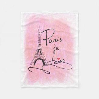 パリI愛PXLYを飾ります フリースブランケット
