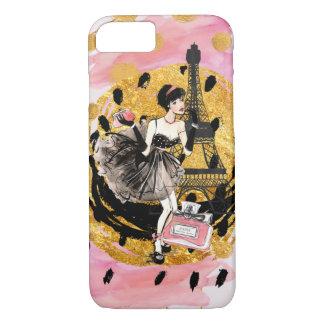 パリPhonecaseのファッションの女の子 iPhone 8/7ケース