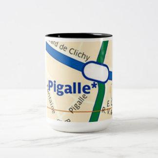 パリPigalleの地下鉄駅のマグ ツートーンマグカップ