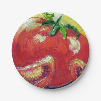 パリWyatt Llanso著トマトの紙皿 ペーパープレート