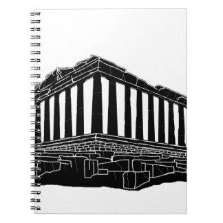 パルテノンの黒いシルエット ノートブック