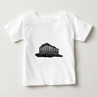 パルテノンの黒いシルエット ベビーTシャツ
