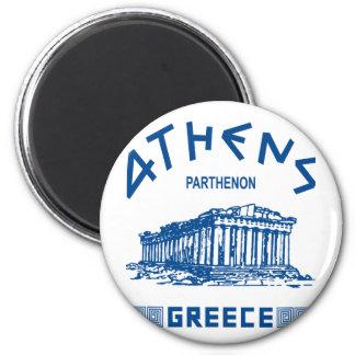 パルテノン-アテネ-ギリシャ語(青い) マグネット