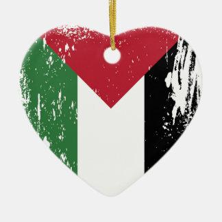 パレスチナのグランジな旗 セラミックオーナメント