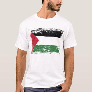 パレスチナのグランジな旗 Tシャツ