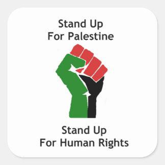 パレスチナのステッカーを擁護して下さい スクエアシール