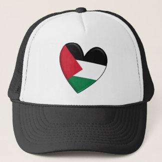 パレスチナのハートの旗 キャップ