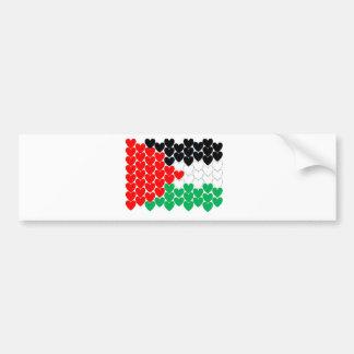 パレスチナのハート バンパーステッカー