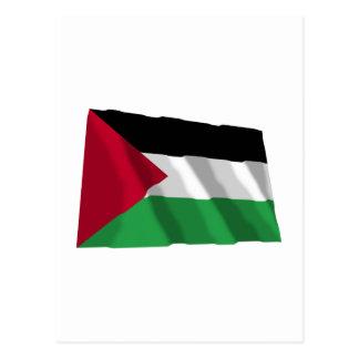 パレスチナの動きの振る旗 ポストカード