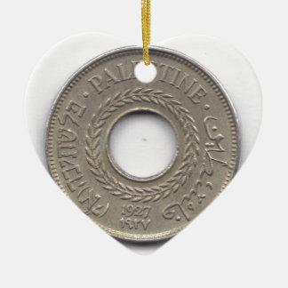 パレスチナの国家威信の硬貨コレクション セラミックオーナメント
