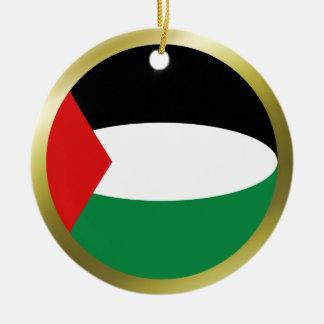 パレスチナの旗のオーナメント セラミックオーナメント