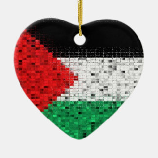 パレスチナの旗のグリッターのオーナメント セラミックオーナメント