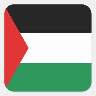 パレスチナの旗のステッカー スクエアシール