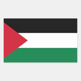パレスチナの旗のステッカー 長方形シール
