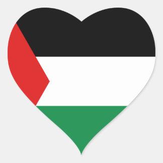 パレスチナの旗のハートのステッカー ハートシール