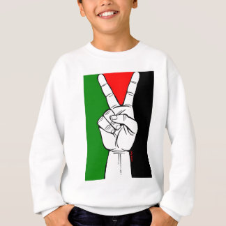 パレスチナの旗のピースサイン スウェットシャツ