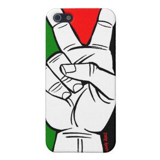 パレスチナの旗のピースサイン iPhone 5 COVER