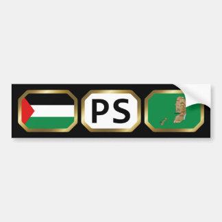 パレスチナの旗の地図コードバンパーステッカー バンパーステッカー