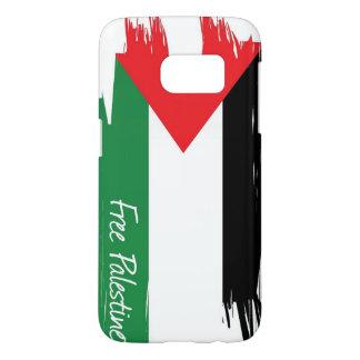 パレスチナの旗の移動式箱の裏表紙 SAMSUNG GALAXY S7 ケース