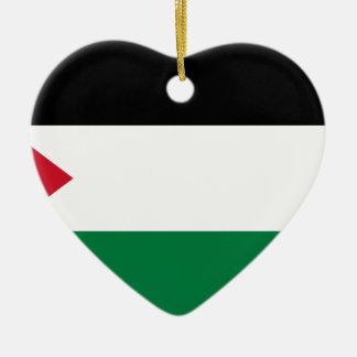 パレスチナの旗(علمفلسطين) セラミックオーナメント