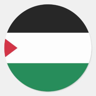 パレスチナの旗(علمفلسطين) ラウンドシール
