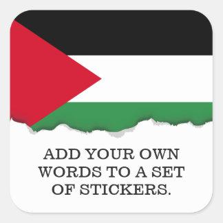 パレスチナの旗 スクエアシール