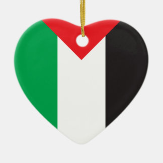 パレスチナの旗 セラミックオーナメント