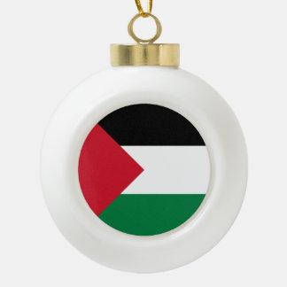 パレスチナの旗 セラミックボールオーナメント