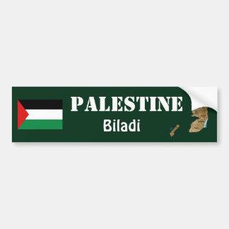 パレスチナの旗 + 地図のバンパーステッカー バンパーステッカー