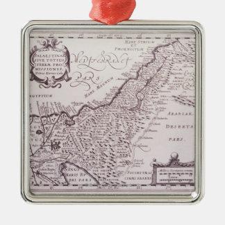 パレスチナの約束された土地の神聖な地図 メタルオーナメント
