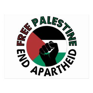 パレスチナの終わりのアパルトヘイトのパレスチナの自由な旗 ポストカード