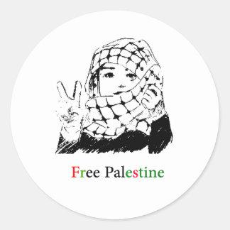 パレスチナの自由なステッカー ラウンドシール