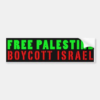 パレスチナの自由なボイコットイスラエル共和国-バンパーステッカー バンパーステッカー