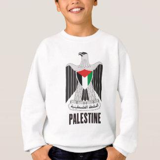 パレスチナ-または記号紋章か旗または紋章付き外衣 スウェットシャツ