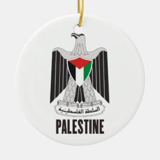 パレスチナ-または記号紋章か旗または紋章付き外衣 セラミックオーナメント