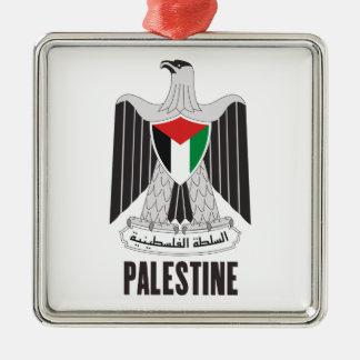 パレスチナ-または記号紋章か旗または紋章付き外衣 メタルオーナメント