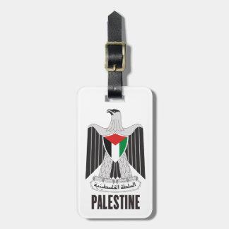 パレスチナ-または記号紋章か旗または紋章付き外衣 ラゲッジタグ