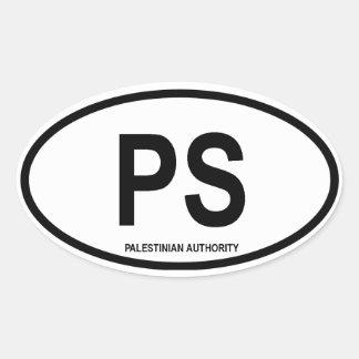"""パレスチナ""""PS """" 楕円形シール"""