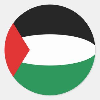パレスチナFisheyeの旗のステッカー ラウンドシール