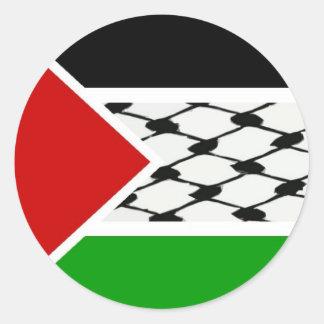 パレスチナKeffiyehの旗 ラウンドシール