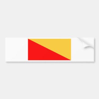 パレルモの旗 バンパーステッカー