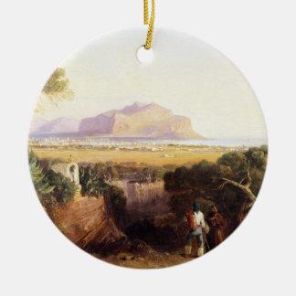 パレルモ、シシリー1847年(キャンバスの油) セラミックオーナメント