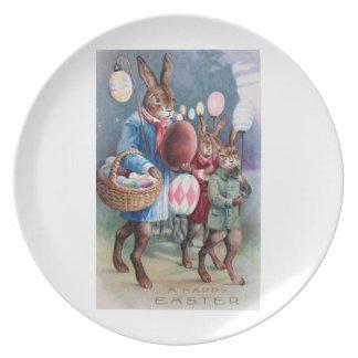 パレードのイースターのウサギ プレート